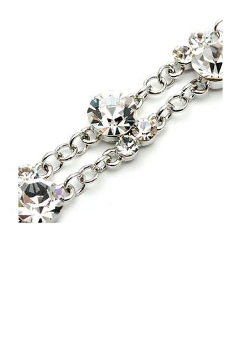 Glamorousky silver Silver Twin CZ Bracelet with Austrian Element Crystals 859E4AC0EAAA7EGS_1