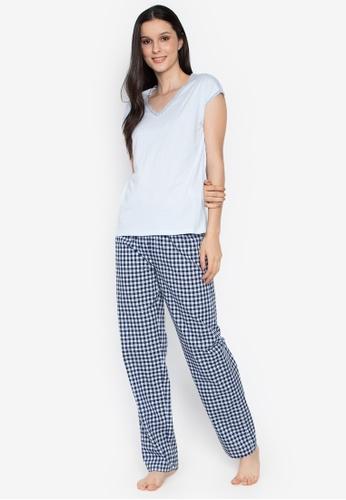 c6ac09f866 Shop Women Secret Cotton Checkered Pyjama Online on ZALORA Philippines