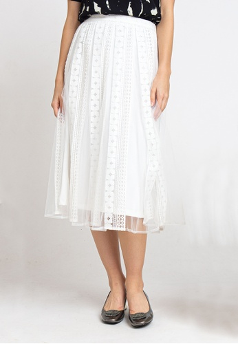 L'zzie white LZZIE SOPHIA SKIRT - WHITE C3CD8AAF07BE08GS_1