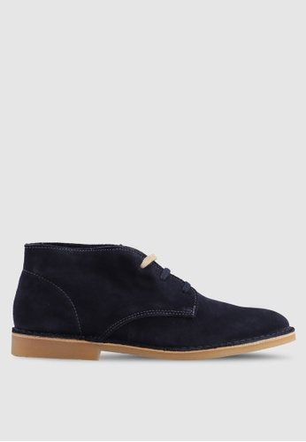 Selected Homme navy Royce Desert Suede Boots 0237BSHE9E14BEGS_1