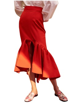 c67d6fb90c1 Kiss   Tell red Phoebe Skirt in Red C09AFAA54117ECGS 1