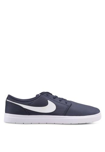 Nike black and white and blue Men's Nike SB Portmore II Ultralight Skateboarding Shoes NI126SH0KPS7PH_1