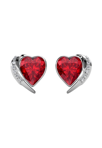 Her Jewellery LUVEA - Angel Heart Earrings (White Gold) by Her Jewellery 7F511ACABD3C05GS_1