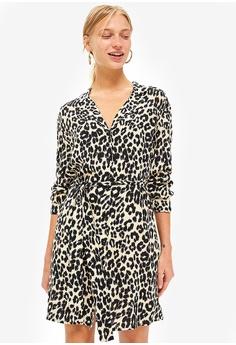 097023054cd9 TOPSHOP brown and multi Animal PJ Shirt Dress 4FE11AA5C92F27GS 1