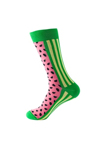 Kings Collection green Watermelon Pattern Cozy Socks (One Size) HS202173 4FC9CAA757C186GS_1