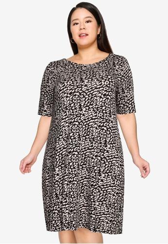 Only CARMAKOMA black Plus Size Bandana Dress 54240AADD0F433GS_1