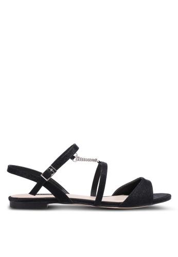 ZALORA black Chain Detail Sandal 8B3BESH4AA5B7BGS_1