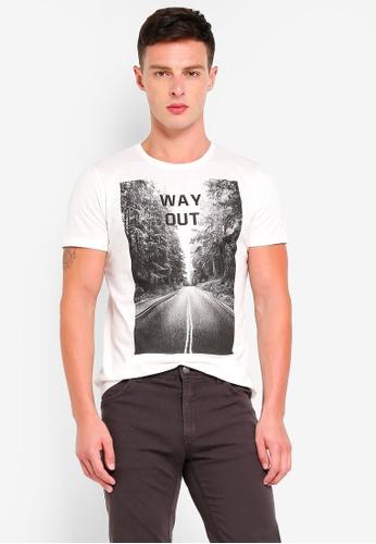 OVS 白色 棉 短袖T恤 0F84DAAD2B7023GS_1