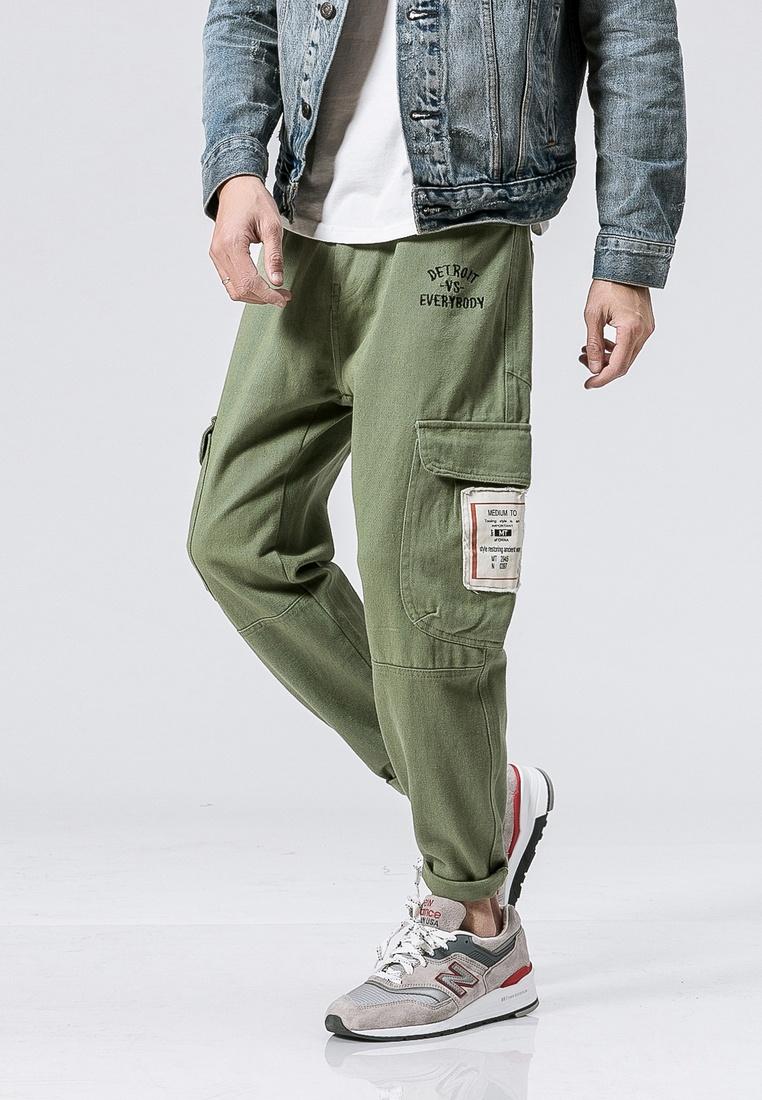 Fit Pants Regular hk green ehunter Casual qTZ4xn5