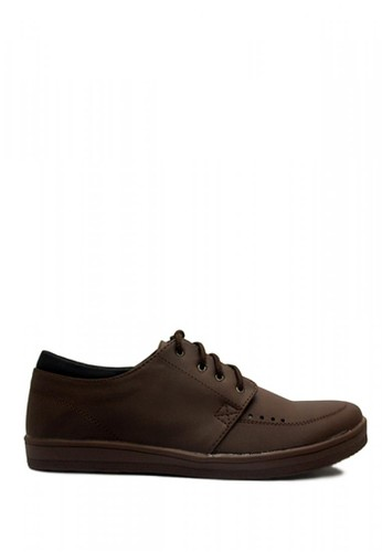 D-Island brown D-Island Shoes Casual Tommy Comfort Leather Dark Brown FD0BBSHD5D9D47GS_1