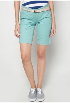 Glitzie Low City Shorts with Belt