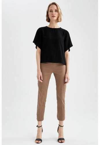 DeFacto brown Cigarette Trousers 3D0B6AA13FA45AGS_1