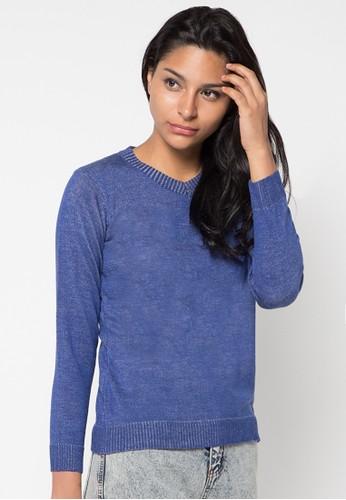 VOYANT BY MEGUMI blue Sweater V Dark Twist VO505AA62YKNID_1