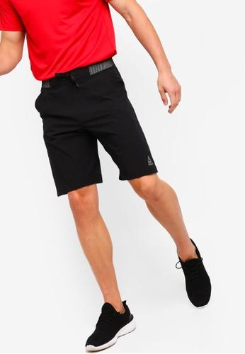 Reebok 黑色 訓練短褲 F8342AA3D799B1GS_1