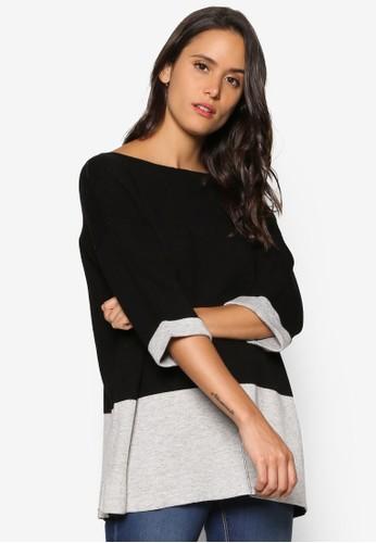 色塊拼接五分袖上衣, 服飾zalora taiwan 時尚購物網, 外套