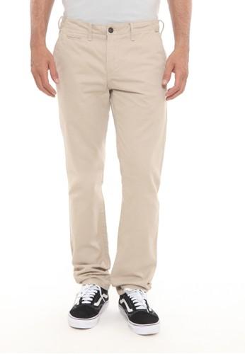 Wrangler brown Solid Long Pants Chinos B5C33AA6C574ECGS_1
