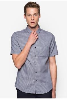 細格紋短袖襯衫