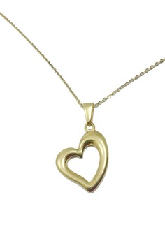 Stainless Steel Curvy Heart Necklace CB