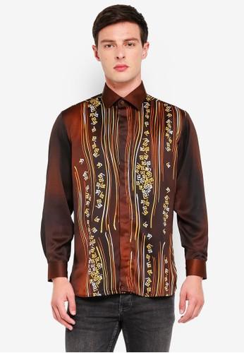 Gene Martino brown Men's Batik Art Strip 96363AAFD56985GS_1