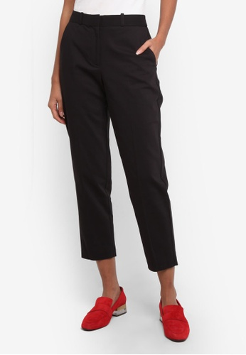 TOPSHOP black Slim Tapered Suit Trousers TO412AA0ROVHMY_1