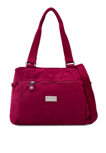 36e1db89f4 Shop Bagstationz Crinkled Nylon Shoulder Bag Online on ZALORA Philippines