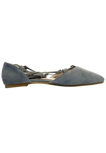 Lara 灰色 女裝低跟鞋 14A1ESH86FCEC7GS_1