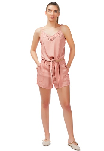 London Rag pink Lazy Day Off Tie Down Cami Top in Blush 538F6AA179FD2EGS_1