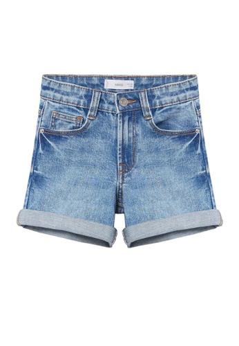 MANGO KIDS blue Rolled-Up Hem Denim Shorts D6A9FKA0C12224GS_1