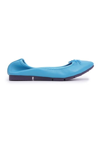 Flatss & Heelss by Rad Russel 藍色 Simple Square-toe Flats - Blue 50C17SHD50B0AFGS_1
