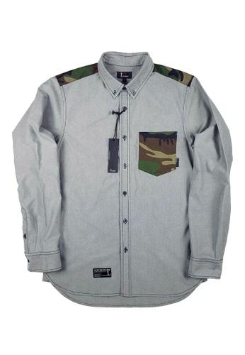 L.I.M.I.T.E black Camo Twill With Oxford Shirt LI425AA0FCJTSG_1