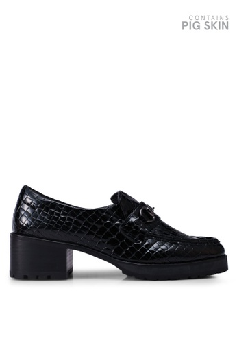 E8 by Miista 黑色 漆皮粗跟樂福鞋 3B2F1SH016EA82GS_1