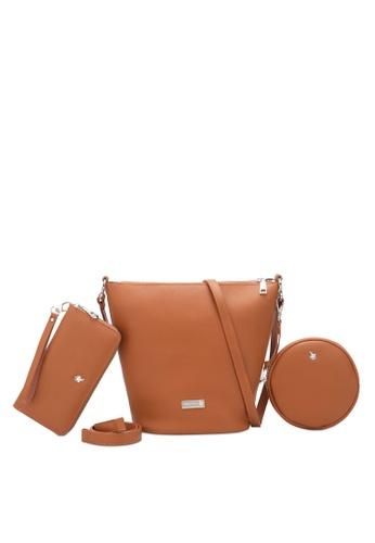 Swiss Polo 褐色 Ladies 3-in-1 Bucket Bag FF260ACE2DC75BGS_1