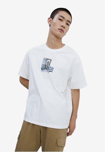URBAN REVIVO white Casual T-Shirt FC206AAD52B9A9GS_1
