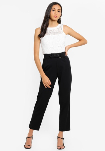 206beb74d867d6 Buy Dorothy Perkins Ivory Floral Lace Shell Top Online on ZALORA Singapore