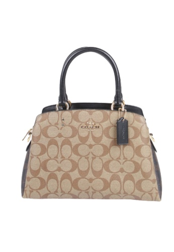 Coach brown Coach Signature Mini Lillie C1786 Carryall Bag In Khaki Brown Multi DF626AC8059B97GS_1