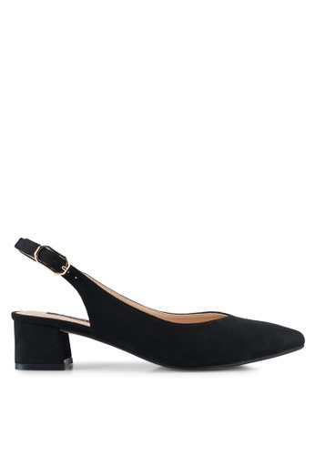 ZALORA black Backsling Pointed Low Heels 4CA10SH251A49DGS_1