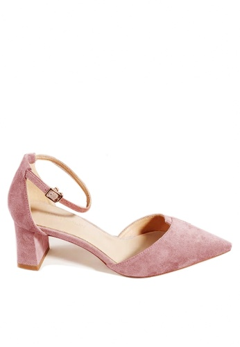 Twenty Eight Shoes 粉紅色 尖頭絨面中踭鞋197-1 16F98SH99D1FC3GS_1