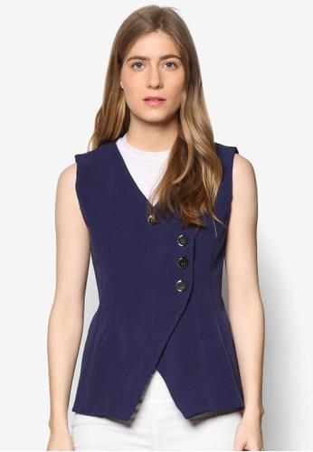 Janelle 單排鈕無袖外套, 服飾, 夾克esprit outlet & 大衣