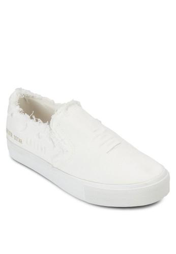 刷破鞋口素色懶人鞋esprit 旺角, 女鞋, 休閒鞋
