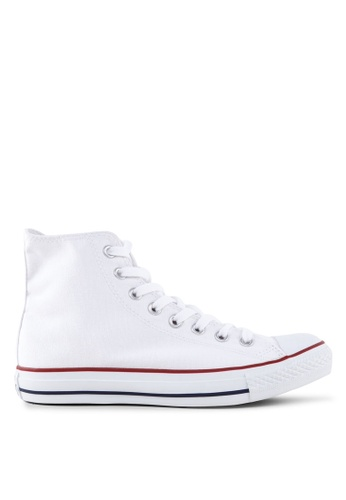 Converse white and navy Chuck Taylor All Star Canvas Ox Unisex Sneakers 4ABD2SHFFF840EGS_1