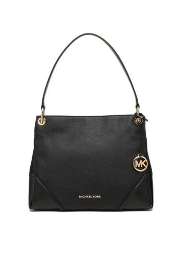 MICHAEL KORS black Michael Kors Nicole Medium Leather Shoulder Bag Black 35T9GNIL2L 35756AC3572719GS_1