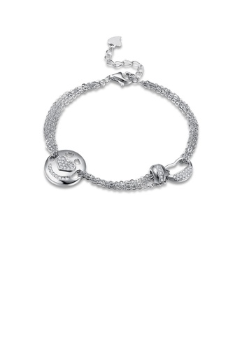 Glamorousky white 925 Sterling Silver Fashion Cute Piggy Bracelet with Cubic Zircon 9DA18AC8BE8677GS_1