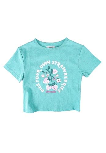 Cath Kidston green Sweet Strawberry T-Shirt B2639KA4CAAB0BGS_1