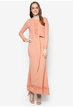 Double Layered Cape Dress - Vercato Veron