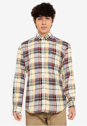 Ben Sherman yellow Slub Madras Check Shirt 3186DAA78CB601GS_1