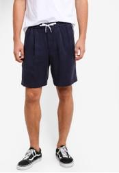 Topman blue Navy Tencel Side Stripe Shorts TO413AA68UPZMY_1