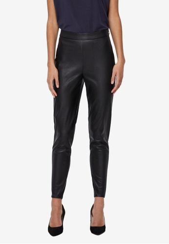 Vero Moda black Janni High Waist Pu Leggings 29A4DAA97DB493GS_1