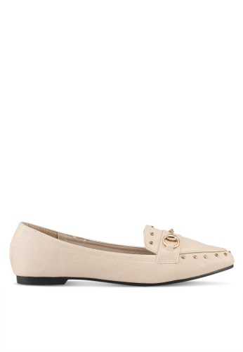 Mimosa beige Loafers with Metallic Detail 81A2FSH2F97352GS_1