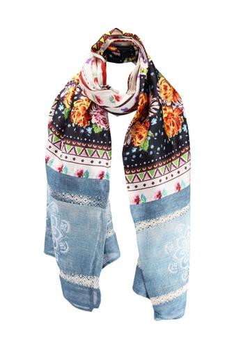 Desigual multi Boho Tie-dye Foulard E81B4AC61BBA8DGS_1