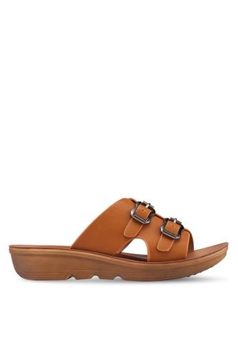 Noveni 褐色 楔型涼鞋 D4155SH2C39583GS_1